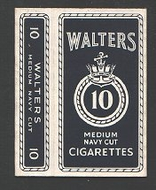 cigarette packet circa 1930-40's Walter's, EMPTY  #009
