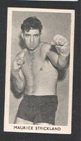 Insert card Boxing 1938  Maurice Strickland